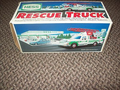 Hess Rescue Truck 1994 *** New In Box *** Hess Gas Truck Toy Truck New