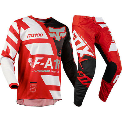 FOX RACING 180 Sayak Red MX Adult Pants With FREE Matching Jersey **SPECIAL**