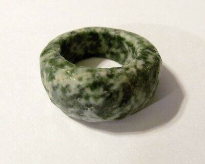 Attractive Faceted Agate Solid Ring Size 7.25       AGAR1B