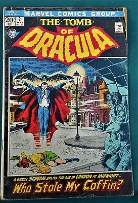 Comic Book Dracula Issue 2 Silver Age  Marvel Comics