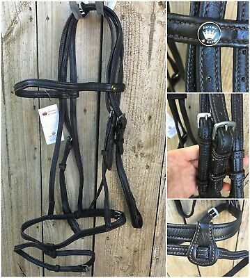 New Jeremy & Lord full size nappa bridle in brown.  RRP $119.95