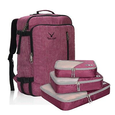 """Hynes Eagle 38L/20"""" Travel Cabin Approved Carry-On Backpack w 3PCS Packing Cubes"""