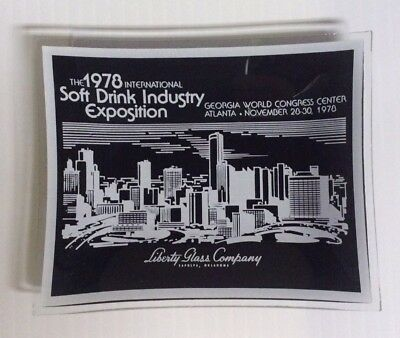 1978 International Soft Drink Industry Exposition Ashtray Liberty Glass