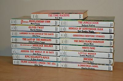 Lot of 17 Great Illustrated Classics Hardcover Baronet Books