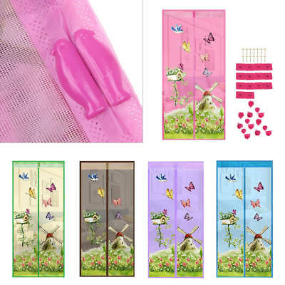 Magic Door Curtain Mesh Magnetic Snap Hands Bug Fly Mosquito Insect Screen Net