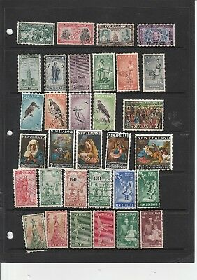 New Zealand early mix of stamps