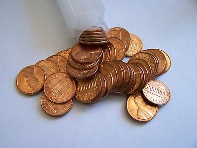Un-Circulated Red Roll Of (50) 1969-S Lincoln Memnorial Pennies
