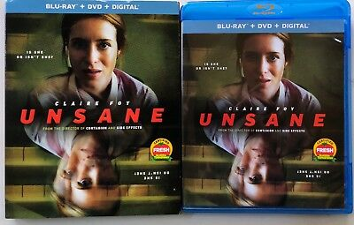 Unsane Blu Ray Dvd 2 Disc Set + Slipcover Sleeve Free World Wide Shipping Buy It