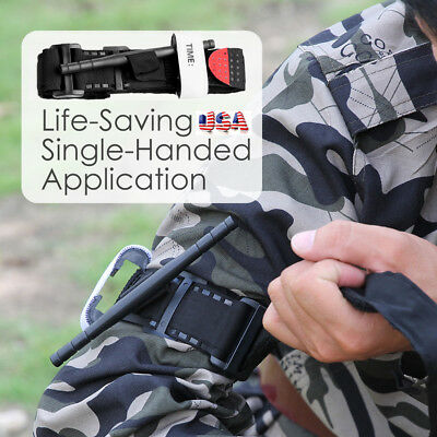 Outdoor One Hand CAT Tourniquet Combat Application First Aid Handed Emergency US