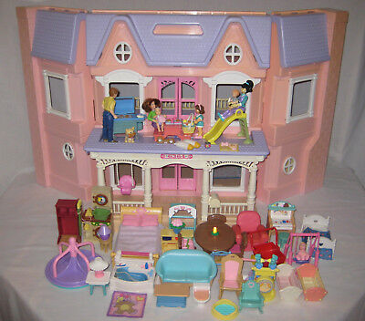 Fisher Price Loving Family Dream Doll House Large Set Good Condition