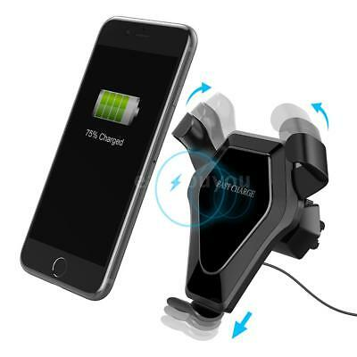 Qi Car Wireless Charger Stand Phone Holder Cradle Mount Fast for Cellphone L7J8