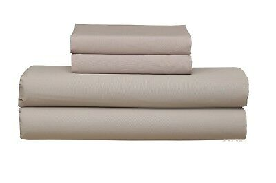 Beige Single/Queen/ King Fitted Sheet With Pillowcases AU Seller Bed Sheet