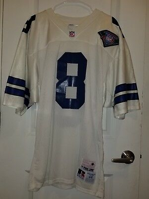 great fit 6b54d 4ee26 AUTHENTIC VINTAGE RUSSELL Dallas Cowboys Troy Aikman Jersey Size 44