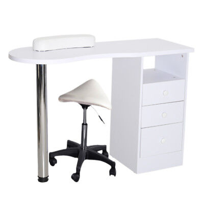 Manicure Table Desk Nail Art Tattoo Beauty Salon Work Station With Drawers Stool