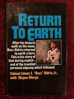 Buzz Aldrin RETURN TO EARTH First Edition Signed 1973 Autobiography
