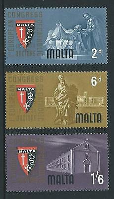 1964 MALTA Physician Congress Set MNH (Scott 300-302)