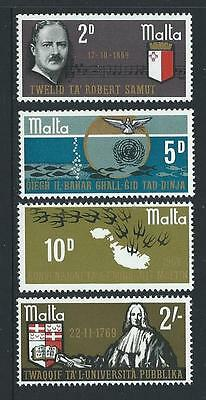 1969 MALTA Anniversaries & Events Set MNH (Scott 400-403)