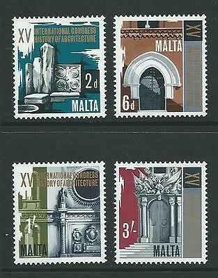 1967 MALTA Architecture Congress Set MNH (Scott 371-374)