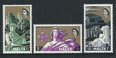 1959 MALTA George Cross Set - 3rd Issue MNH (Scott 272-274)
