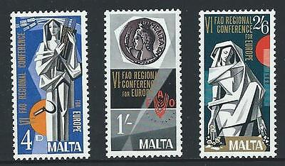 1968 MALTA F.A.O. Congress Set MNH (Scott 394-396)