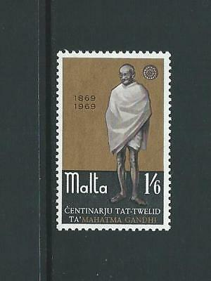 1969 MALTA Gandhi Birth Centenary MNH (Scott 397)