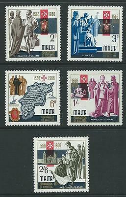 1966 MALTA 400th Anniversary Valletta Set MNH (Scott 348-352)