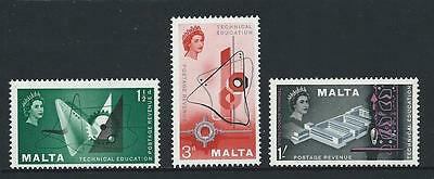 1958 MALTA Technical Education Set MNH (Scott 266-268)
