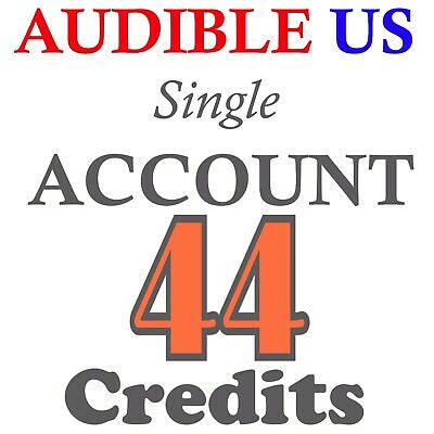 New Audible Accounts With 44 Credits Prefilled For US Region Fast Delivery