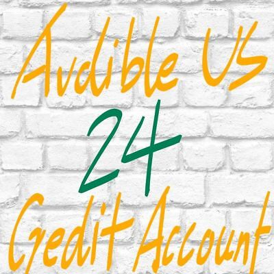 New Audible Accounts With 24 Credits Prefilled For US Region Fast Delivery
