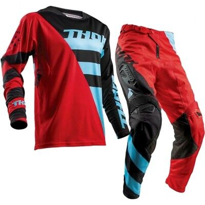 THOR FUSE Air Rive Red/Black MX Adult Pants With FREE Matching Jersey **SPECIAL*