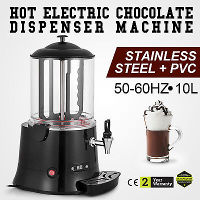Commercial 10L Hot Chocolate Machine Beverage Dispenser Cacao Maker