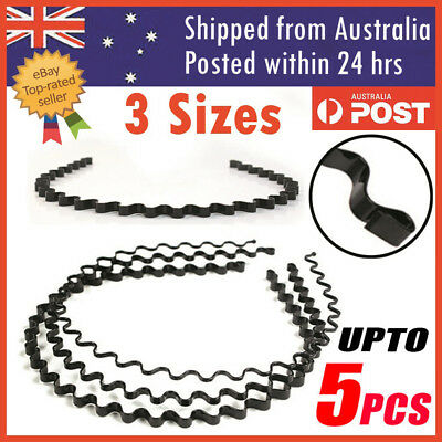 Fashion Men Women Girls Sports Metal Wave HOOP Headband Hair Band Unisex AU