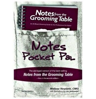 NOTES POCKET PAL DOG GROOMING BOOK BY MELISSA VERPLANK 2nd edition