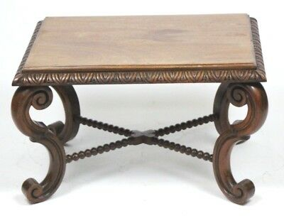 Antique Carved Mahogany Coffee Table - FREE Shipping [PL4484]