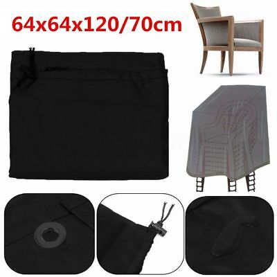 Black Waterproof Outdoor Garden Parkland Patio Stacking Chairs Furniture Cover