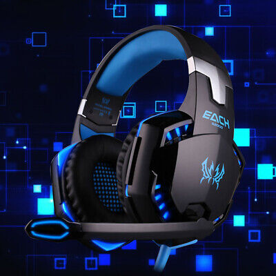 3.5mm Gaming Headset MIC LED Headphones for PC SW Laptop PS4 Slim Pro One
