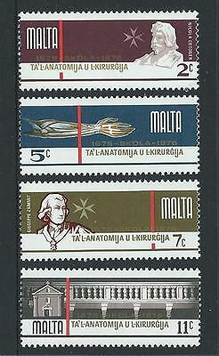 1976 MALTA 300th Anniversary School of Anatomy & Surgery Set MNH (Scott 514-517)
