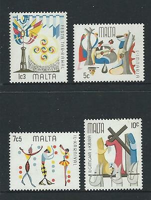 1976 MALTA Folk Festivals Set MNH (Scott 505-508)