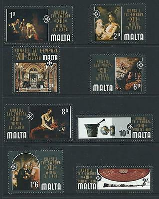 1970 MALTA Art Exhibition Set MNH (Scott 409-416)