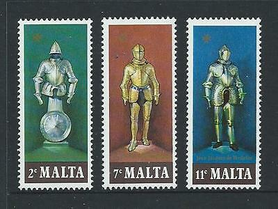 1977 MALTA Suits of Armor Set MNH (Scott 518-520)