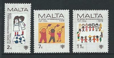 1979 MALTA International Year of the Child Set MNH (Scott 560-562)