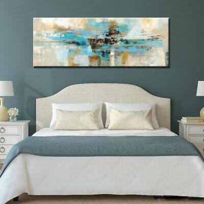 Modern Abstract Oil Painting Light Blue Canvas Wall Art Print Unframed 1 PC l...