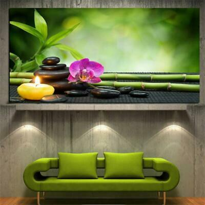 Canvas Art HD Print Modern Orchid Zen Spa Stone Bamboo Candle 1pc Unframed YW...