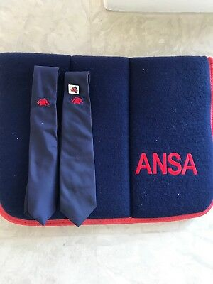 ANSA Horse Saddle Cloth And Ties/Badges WILL POST AT BUYER COST