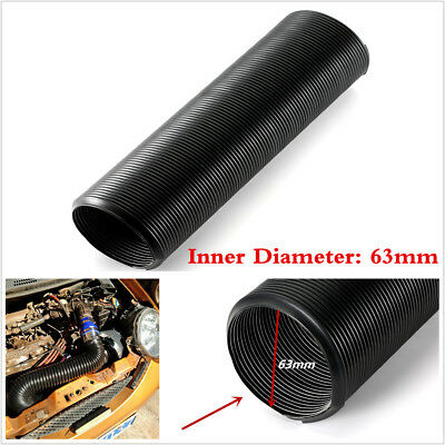 Flexible 1pcs 1m 63mm Car Air Filter Intake Cold Air Flow Feed Intake Hose Black