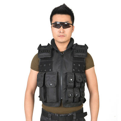 Adjustable Tactical Military Vest Army Combat CS Airsoft Paintball Protection
