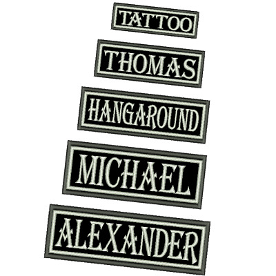 Custom Name Tag Biker Patch Iron On Different Sizes Embroidered Army Airsoft New