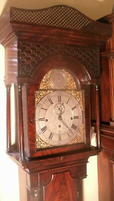 "Antique Mahogany Musical 8 Bells ""leominster ""  Longcase / Grandfather Clock"