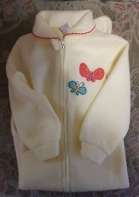 BNWT Baby Girl's Size 2 Winter Sleepsuit Lemon zip up 24 months Polyester Cotton