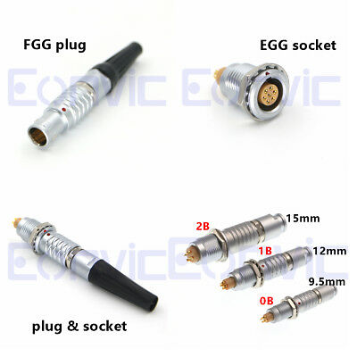 Replace Lemo 2B Connector Male Plug Female Socket 2 8 16 19 26 Way FGG EGG Metal
